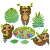 Sloth Paper Cutouts