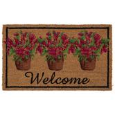 Welcome Flower Pots Doormat