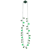 Green Shamrock Light Up Necklace