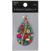 Multi-Color Rhinestone Teardrop Pendant