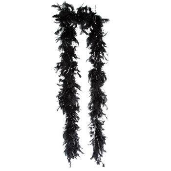 Black & Silver Masquerade Boa