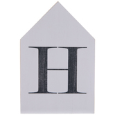 White & Black Letter House Wood Wall Decor