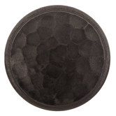 Gray Round Hammered Metal Knob