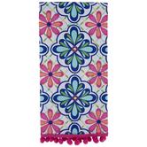 Pink & Blue Floral Medallion Kitchen Towel