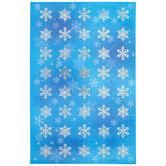Blue Snowflake Foil Label Stickers