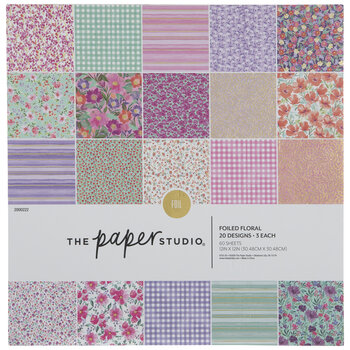 "Floral Foil Paper Pack - 12"" x 12"""