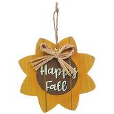 Happy Fall Sunflower Ornament
