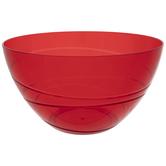 Red Translucent Spiral Bowl
