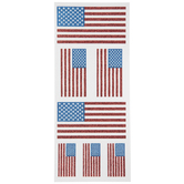 US Flag Glitter Stickers