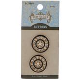 Gold Spoke Shank Buttons - 23mm