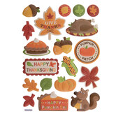 Happy Thanksgiving 3D Stickers