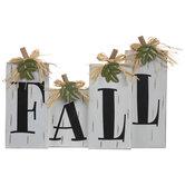 Fall Pumpkin Wood Decor