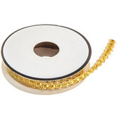 Gold Metallic Woven Trim - 5/16""