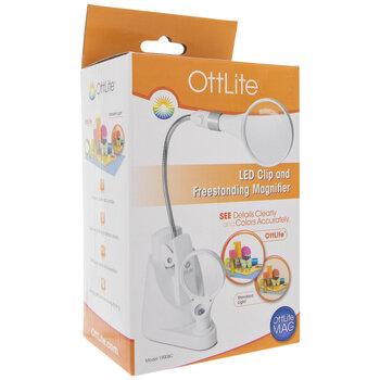 OttLite LED Clip & Freestanding Magnifier