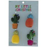 Pineapple & Cactus Ornaments