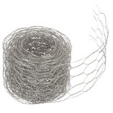 """Silver Chicken Wire Metal Floral Ribbon - 2 1/4"""""""