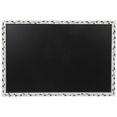 White & Black Leaves Chalkboard
