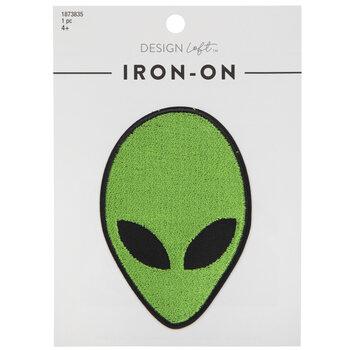 Alien Head Iron-On Applique