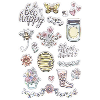 Bees & Flowers Clear Stamps