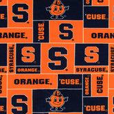 Syracuse Block Collegiate Fleece Fabric