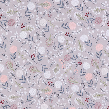 Berry Leaves Apparel Fabric