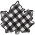 Black & White Buffalo Check Leaf Plate