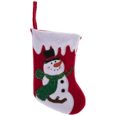 Red Snowman Mini Stocking