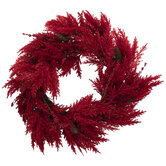 Red Pampas Wreath