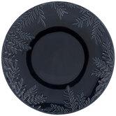 Blue Leafy Edged Plate