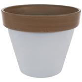 White Two-Tone Flower Pot