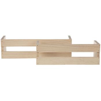 Wood Crate Wall Shelves Set