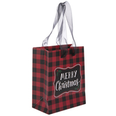 Red & Black Buffalo Check Gift Bags