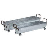 Galvanized Metal Trough Set