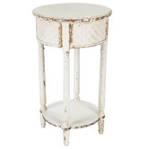 Embossed Round Accent Table
