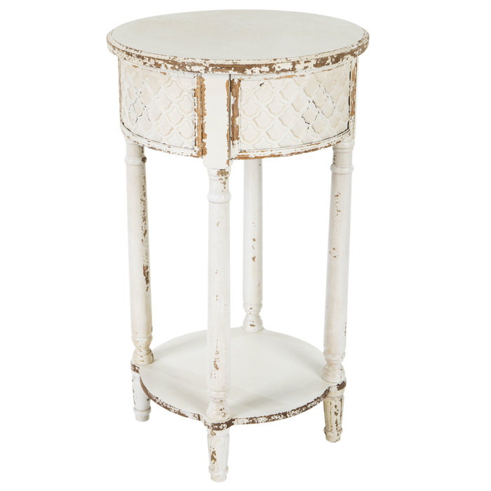 Embossed Round Accent Table Hobby, Round Accent Tables
