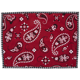 Red Bandana Paisley Placemat