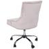 Blush Velvet Office Chair