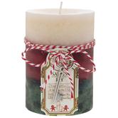 Santa's Key Three Layered Pillar Candle