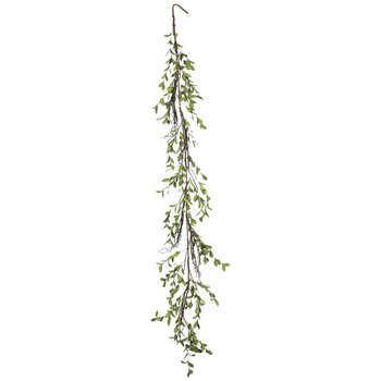 Light Green Eva Tea Leaf & Branch Garland