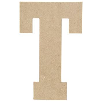 """Wood Letter T - 13"""""""