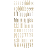 Gold Lowercase Alphabet Stickers