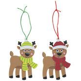 Reindeer Ornaments Foam Craft Kit
