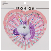 Sequin Unicorn Heart Iron-On Applique