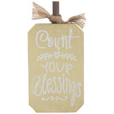 Count Your Blessings Wood Pumpkin