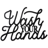 Wash Your Hands Wood Wall Decor