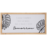 Love You More Leaves Wood Wall Decor