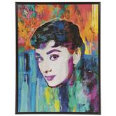 Audrey Hepburn Wood Wall Decor