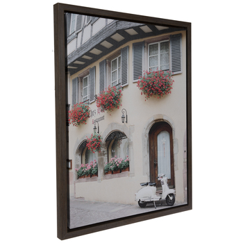 Cafe Street View Canvas Wall Decor
