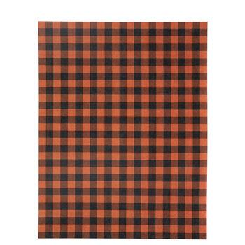 "Orange & Black Gingham Scrapbook Paper - 8 1/2"" x 11"""