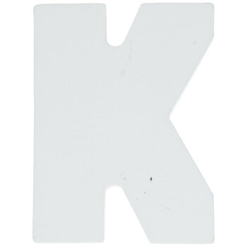 """White Wood Letters K - 2"""""""